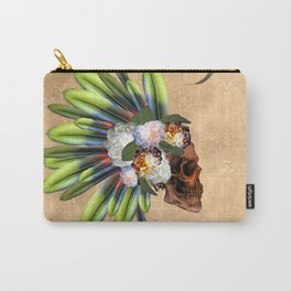 Awesome skull with feathers Carry-All Pouch