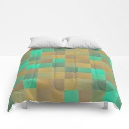 Zig-zag edged felt patchwork II Comforters