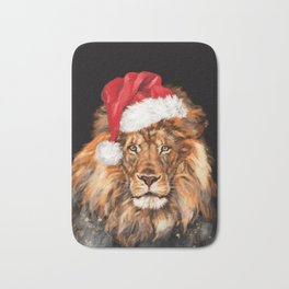 Christmas King Lion Bath Mat