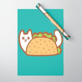 Taco Cat White Wrapping Paper
