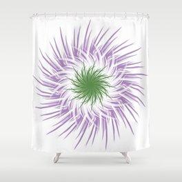 Genderqueer Flower Shower Curtain