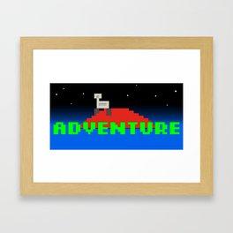 8-Bit Adventure On Mars Framed Art Print