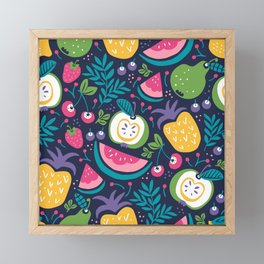 Hello Fruity Framed Mini Art Print