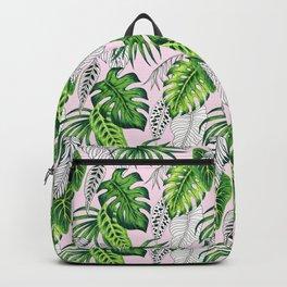 tropical marker pink pattern Backpack