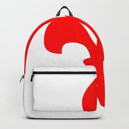 Fleur de Lis (Red & White) Backpack