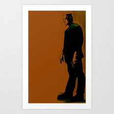 The Monster Is Loose! Art Print