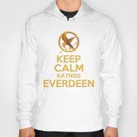 katniss Hoodies featuring KEEP CALM KATNISS EVERDEEN by BomDesignz