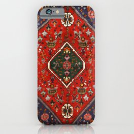 Red & Blue Vintage Bereber Moroccan Bohemian Artwork. iPhone Case