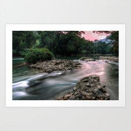 Rio Cahabon Art Print