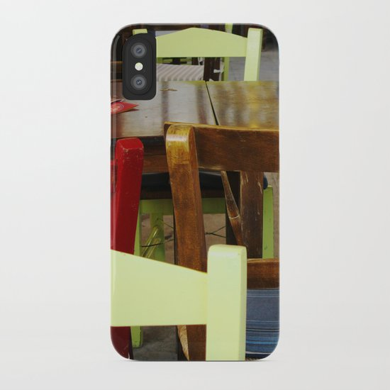 Colorful summer chairs iPhone Case