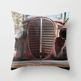 Truck Grill, Old Truck, Old Truck Grill Throw Pillow