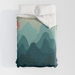 Forest and Mountian Duvet Cover