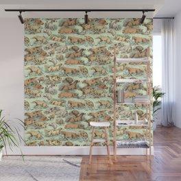 BIRDDOGS IN THE FIELD - MINT Wall Mural