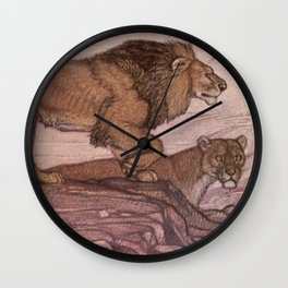 Vintage Lion Painting (1909) Wall Clock
