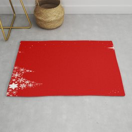 Red Red Christmas Rug