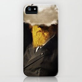 The inability of men with golden faces to be photographed without cloud. iPhone Case