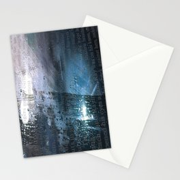 Taking the Evening Train Through Winter Words Stationery Cards
