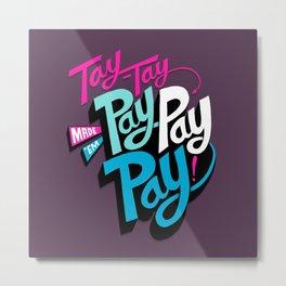 Tay-Tay Vs Apple Metal Print