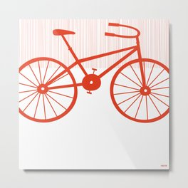 Red Bike by Friztin Metal Print