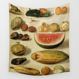 Still Life with Fruit (with Scorpion and Frog) Wall Tapestry