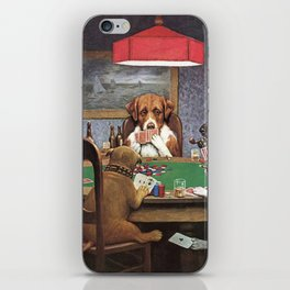 Dogs Playing Poker A Friend in Need Painting iPhone Skin