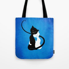 White And Black Cats In Love Tote Bag
