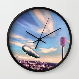 Airship Mooring Wall Clock