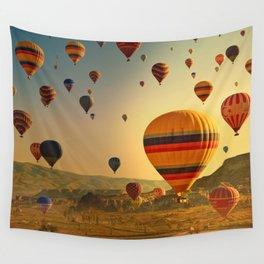 Hot Air Balloons at Sunrise in Cappadocia Wall Tapestry