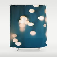 bokeh Shower Curtains featuring Bokeh  by Chloe Gibb