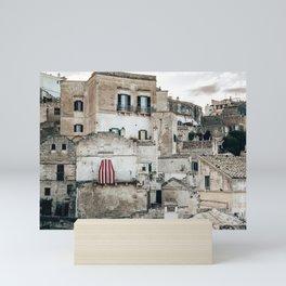 sassi di matera village in italy Mini Art Print