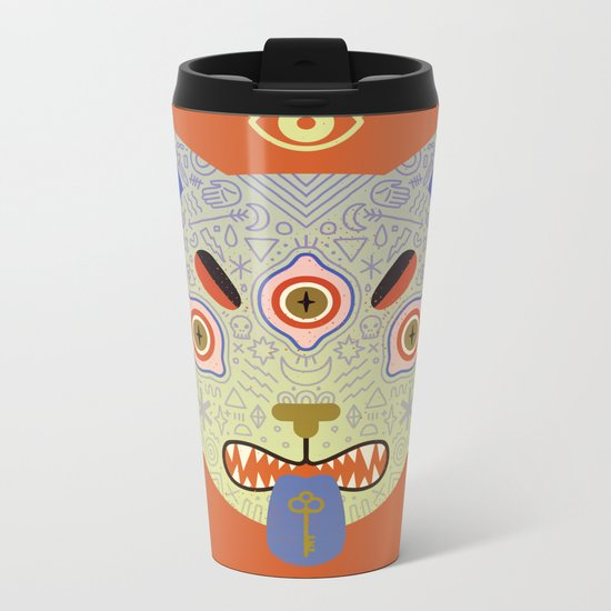 Mystic Cat Metal Travel Mug