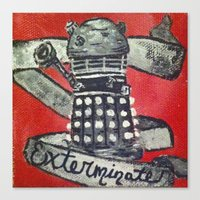 dalek Canvas Prints featuring Dalek by AntiPosi