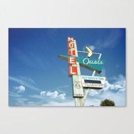 Motel Oasis Morning Along Tulsa Oklahoma Route 66 Canvas Print