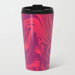 Liquid marble texture design 032 Travel Mug