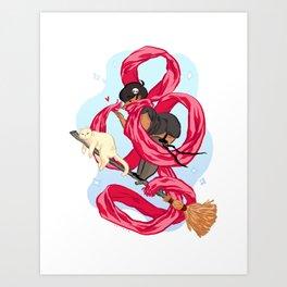 Scarf Witch  Art Print