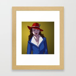 Agent Peggy Carter is on the Case! Framed Art Print