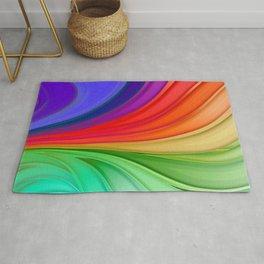 Abstract Rainbow Background Rug