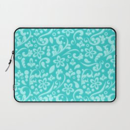 Frosty flowers at the heart of winter Laptop Sleeve