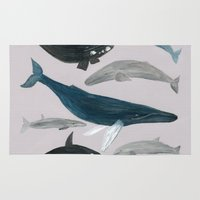 whales Area & Throw Rugs featuring whales by L Step