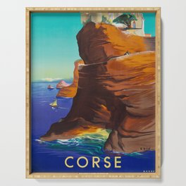 Corsica - Vintage Air France Travel Poster Serving Tray