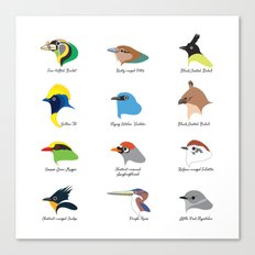 Montane Birds Series 1 Canvas Print