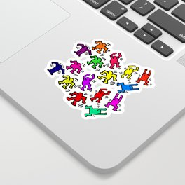 Keith Haring Figures Sticker