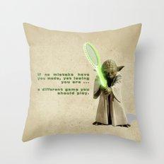 Yoda Squasher  Throw Pillow