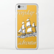 Everyday new adventure 3 Clear iPhone Case