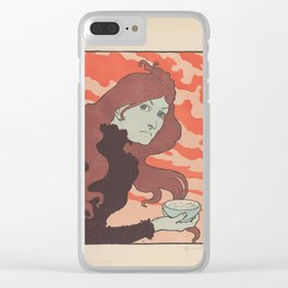 The Acid Thrower - Eugène-Samuel Grasset (1894) Clear iPhone Case