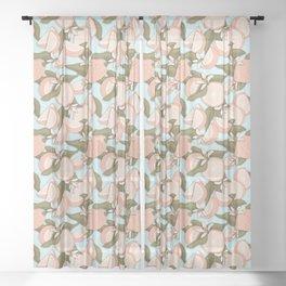 Oranges Pattern Sheer Curtain