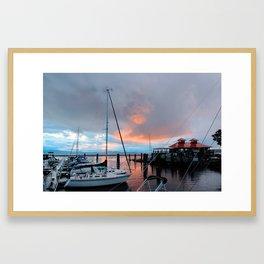 Lake Champlain Sunset Framed Art Print