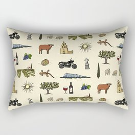 South of France pattern Rectangular Pillow