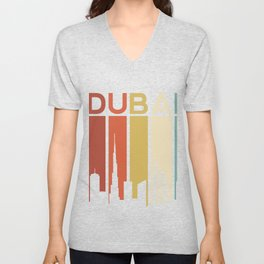 Dubai City Building Skyline Architecture Downtown Hotel United Arab Emirates Desert Gift Men Women Unisex V-Neck