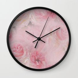 Vicorian Roses Neck Gator Pretty Pink Roses Wall Clock